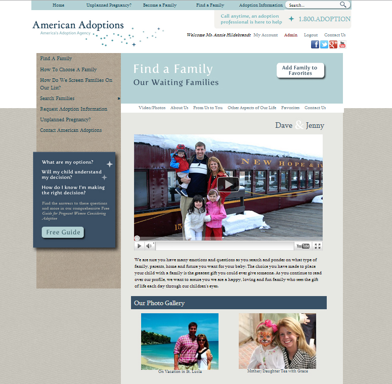 New Look of American Adoptions Online Adoption Profiles