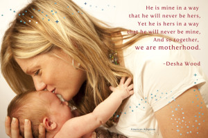 Together We are Motherhood Quote Smaller