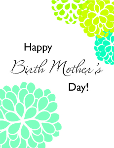 Printable Birth Mother's Day Card