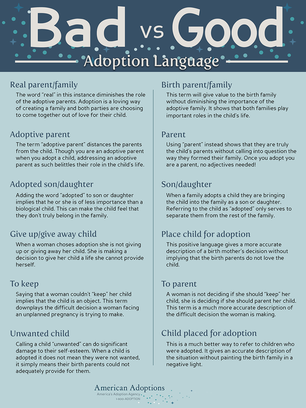 Adoption Language Infographic