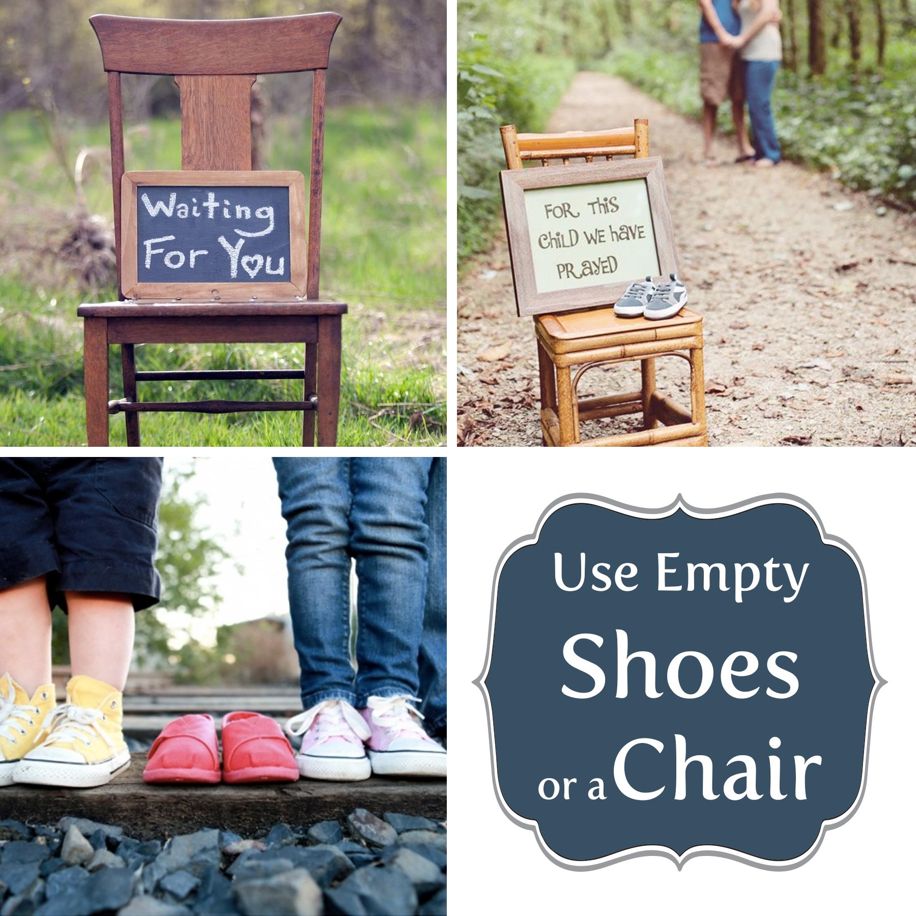 Adoption Announcement U2013 Shoes,Chair
