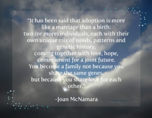 Adoption is Like a Marriage