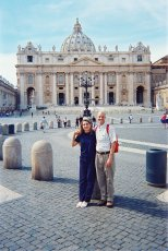 Adoptive Family Photo: At the Basilica of Saint Peter in Rome, click to view bigger version