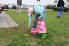 Adoptive Family Photo: Easter Egg Hunt, click to view bigger version