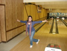 Adoptive Family Photo: Lorraine Showing Off Her Bowling Skills, click to view bigger version