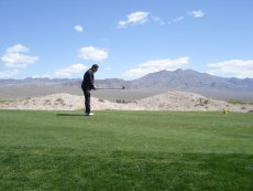Adoptive Family Photo: Bill Getting Ready to Tee Off in Vegas, click to view bigger version
