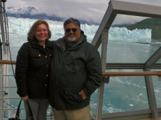 Adoptive Family Photo: Hubbard Glacier, Alaskan Cruise, click to view bigger version