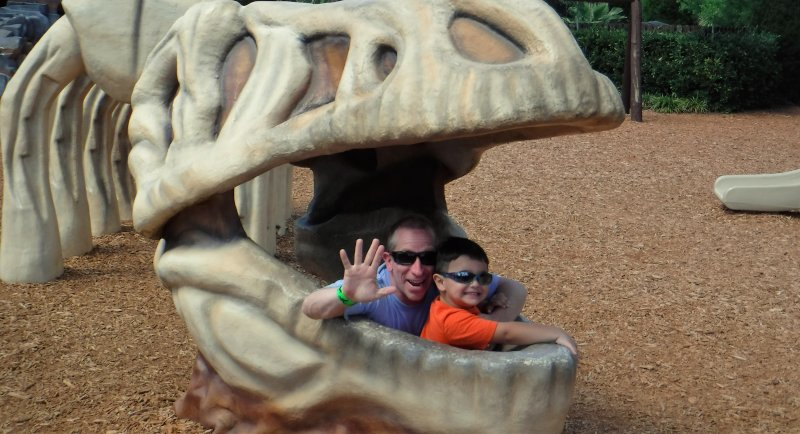 Checking Out the Dino at Dinosaur World