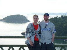 Adoptive Family Photo: Just Off the Ferry Boat in Seattle, click to view bigger version