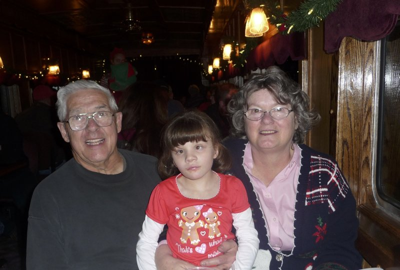 On the Polar Express with Grandma and Grandpa