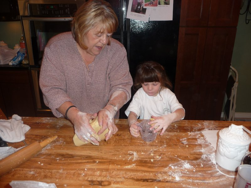 Getting Messy Making Christmas Cookies with Oma
