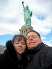 Adoptive Family Photo: Visiting the Statue of Liberty, click to view bigger version
