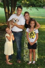 Adoptive Family Photo: Family Pic with Our Dog, click to view bigger version