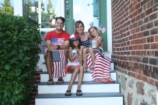 Adoptive Family Photo: Fourth of July Fun, click to view bigger version