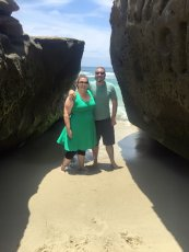Adoptive Family Photo: Beautiful, Natural Rock Formation on the San Diego Coast, click to view bigger version