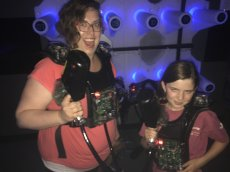 Adoptive Family Photo: Ready for Some Laser Tag With Our Niece, click to view bigger version