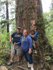 Adoptive Family Photo: Hiking in the Washington Forests, click to view bigger version