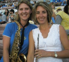 Adoptive Family Photo: Jenny and a Friend at a Marching Band Reunion , click to view bigger version