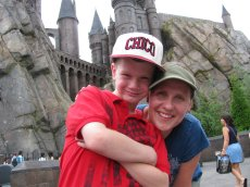 Adoptive Family Photo: Jenny and Her Nephew at Universal Studios, click to view bigger version