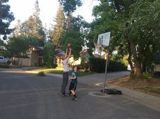 Adoptive Family Photo: Johann Playing Basketball with Our Nephew, click to view bigger version