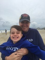 Adoptive Family Photo: Fun at the Beach with Uncle Brendan, click to view bigger version