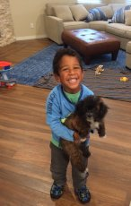 Adoptive Family Photo: Julian is Everyone's Favorite Dog Sitter, click to view bigger version