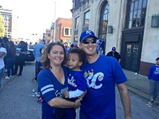 Adoptive Family Photo: Supporting the KC Royals, click to view bigger version