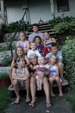 Adoptive Family Photo: Fourth of July, click to view bigger version