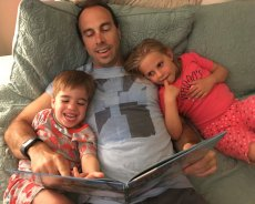 Adoptive Family Photo: Story Time with Ethan & Our Niece, click to view bigger version