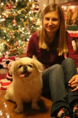 Adoptive Family Photo: Andrea and Our Dog, Winny, click to view bigger version
