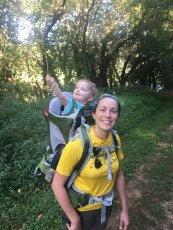 Adoptive Family Photo: Hiking with Mommy, click to view bigger version
