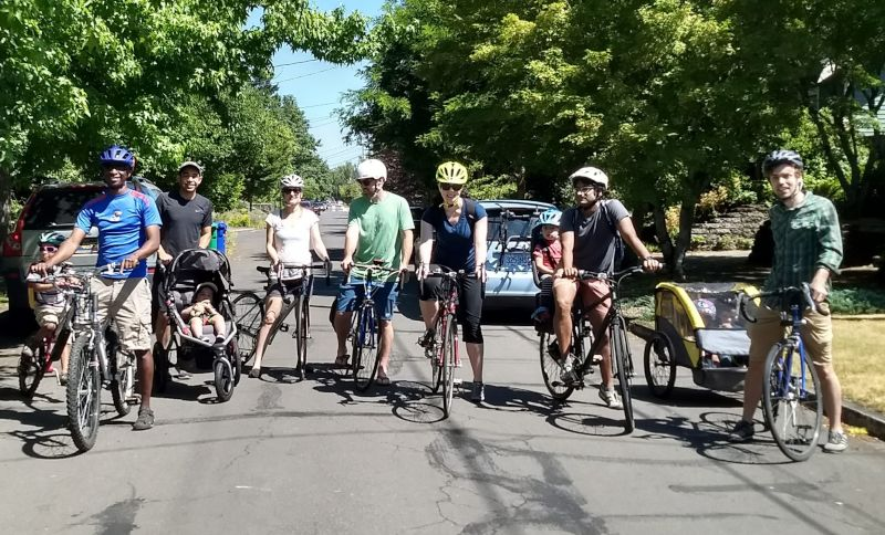 Bike Brigade With Friends