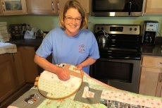 Adoptive Family Photo: Quilting a Gift for a Friend's Baby Shower, click to view bigger version