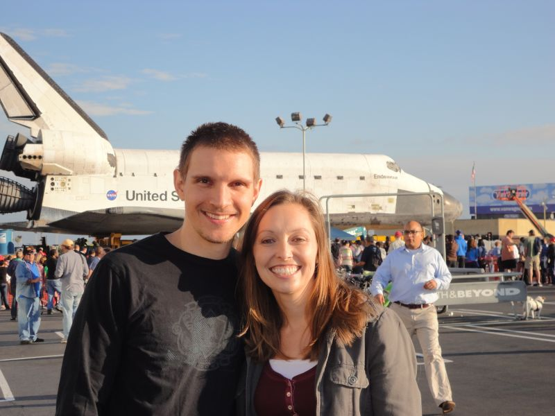 With the Space Shuttle Endeavour