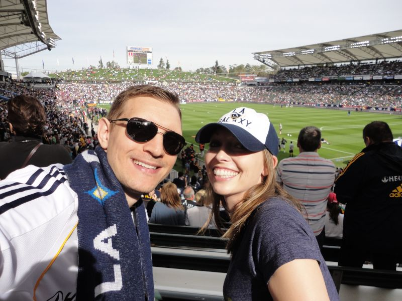 Cheering On the LA Galaxy