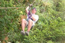 Adoptive Family Photo: Robert on the Zipline, click to view bigger version