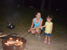 Adoptive Family Photo: Making S'mores, click to view bigger version