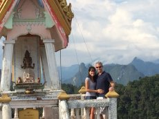 Adoptive Family Photo: 1,262 Steps Up Into the Sky in Thailand, click to view bigger version