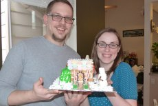 Adoptive Family Photo: Our Gingerbread Masterpiece, click to view bigger version