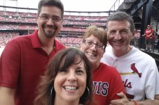 Adoptive Family Photo: Go Cardinals!, click to view bigger version