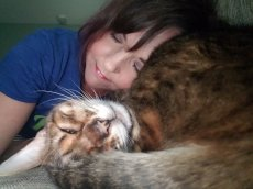 Adoptive Family Photo: Napping with Our Zoe, click to view bigger version