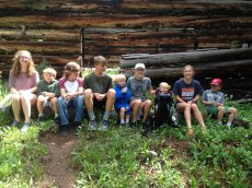 Adoptive Family Photo: Miles & His Cousins in Colorado, click to view bigger version