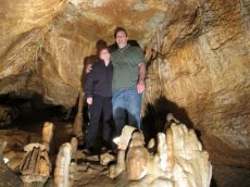 Adoptive Family Photo: Exploring a Cave in Arkansas, click to view bigger version