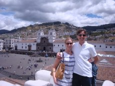 Adoptive Family Photo: Visiting Ecuador, Where David was Born, click to view bigger version