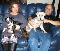 Adoptive Family Photo: With Our Pups, Gracie & Duke, click to view bigger version
