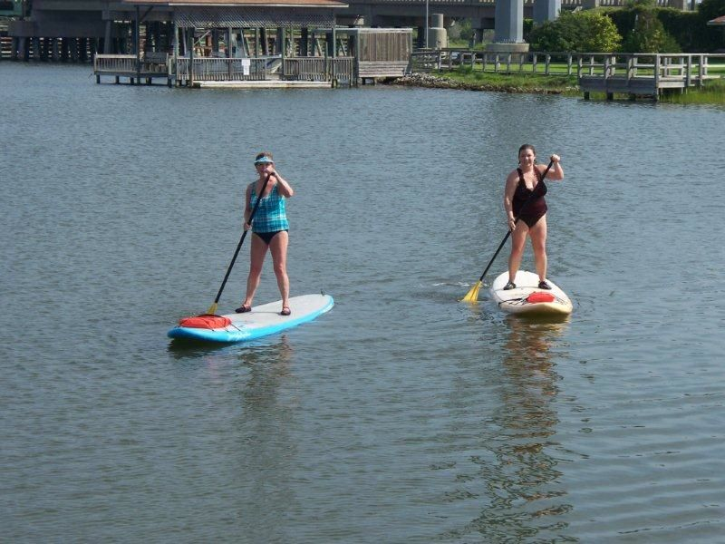 Holly & Her Mom Paddleboarding
