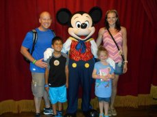 Adoptive Family Photo: First Trip to Disney World, click to view bigger version