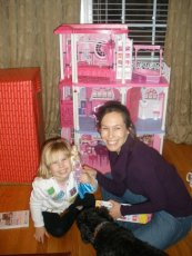 Adoptive Family Photo: Michelle Playing Barbies with Her Niece, click to view bigger version