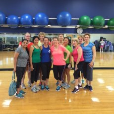 Adoptive Family Photo: Michelle with Some Happy Zumba Participants , click to view bigger version