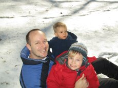 Adoptive Family Photo: Guys in the Snow